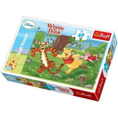 Puzzle Trefl-17207 Winnie the Pooh - happy race