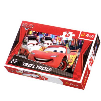 Trefl-17211 Jigsaw Puzzle - 60 Pieces - Cars 2 : Welcome to Tokyo