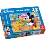Trefl-18125 Jigsaw Puzzle - 30 Pieces - Mickey and his Friends : Funfair
