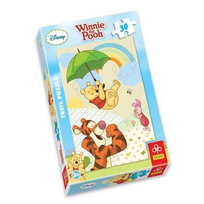 Trefl-18154 Jigsaw Puzzle - 30 Pieces - Winnie the Pooh : Dancing in the Rain