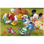 Puzzle  Trefl-19278 Mickey and Donald are playing radio-controlled cars