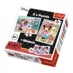 2 Puzzles + Memo - Minnie Mouse