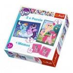 2 Puzzles + Memo - My Little Pony