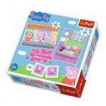 2 Puzzles + Memo - Peppa Pig