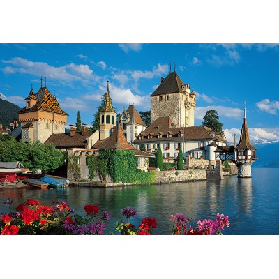 Trefl-26102 Jigsaw Puzzle - 1500 Pieces - Oberhofen Castle, Switzerland