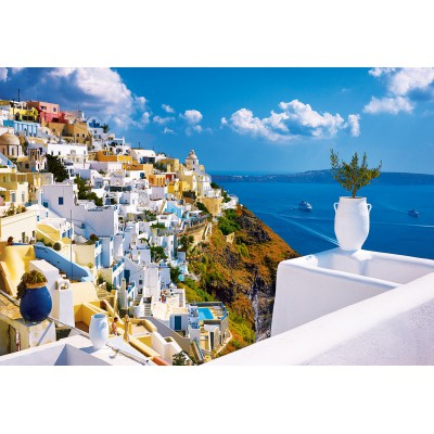 Trefl-26119 Jigsaw Puzzle - 1500 Pieces : Santorini, Greece