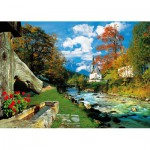 Trefl-27061 Jigsaw Puzzle - 2000 Pieces - Mountain Village, Germany