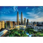 Trefl-27075 Jigsaw Puzzle - 2000 Pieces : Petronas Twin Towers