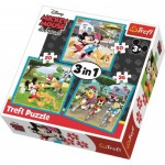 Puzzle   3 in 1 - Mickey Mouse with friends