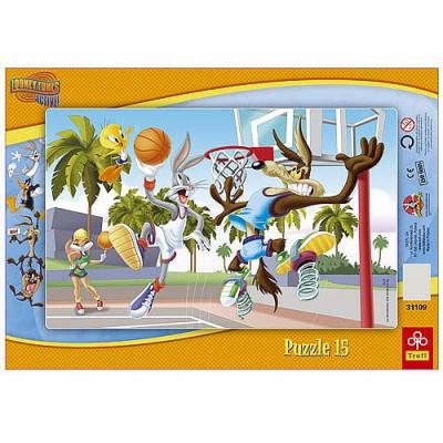 Trefl-31109 Frame Puzzle - Lonney Tunes