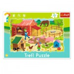 Trefl-31216 Frame Jigsaw Puzzle - The Farm