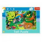Trefl-31219 Frame Jigsaw Puzzle - Tropical Forest
