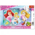 Trefl-31279 Frame Puzzle - Disney Princess