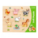 Trefl-31305 Frame Puzzle - Farm animals