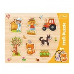 Trefl-31306 Frame Puzzle - Town