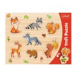 Trefl-31307 Frame Puzzle - Forest Animals