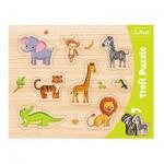 Trefl-31308 Frame Puzzle - Wild Animals