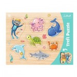 Trefl-31309 Frame Puzzle - Sea Animals