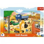 Trefl-31354 Frame Puzzle - Construction site