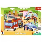 Trefl-31355 Frame Puzzle - Emergency Vehicles