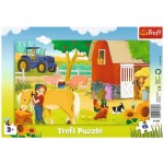 Trefl-31356 Frame Puzzle - Farm Animals
