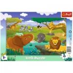Trefl-31357 Frame Puzzle - Savannah