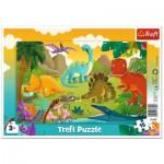 Trefl-31359 Frame Puzzle - Dinosaurs