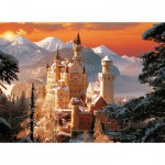 Trefl-33025 Jigsaw Puzzle - 3000 Pieces - Neuschwanstein Castle in the Wintertime