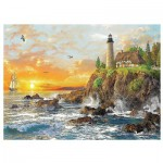 Puzzle  Trefl-33044 Sunset by the Rocky Coast