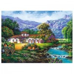 Puzzle  Trefl-33051 Hacienda by the Stream