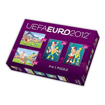 Trefl-34089 4 Puzzles in 1 : UEFA EURO 2012