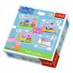 Trefl-34246 4 Jigsaw Puzzles - Peppa Pig