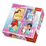 Trefl-34256 4 Jigsaw Puzzles - Disney Princess
