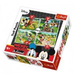 Trefl-34261 4 Jigsaw Puzzles - Mickey Mouse & Friends
