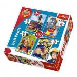 Trefl-34269 4 Jigsaw Puzzles - Fireman Sam
