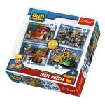 Trefl-34270 4 Jigsaw Puzzles - Bob The Builder