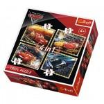 Trefl-34276 4 Jigsaw Puzzles - Cars 3