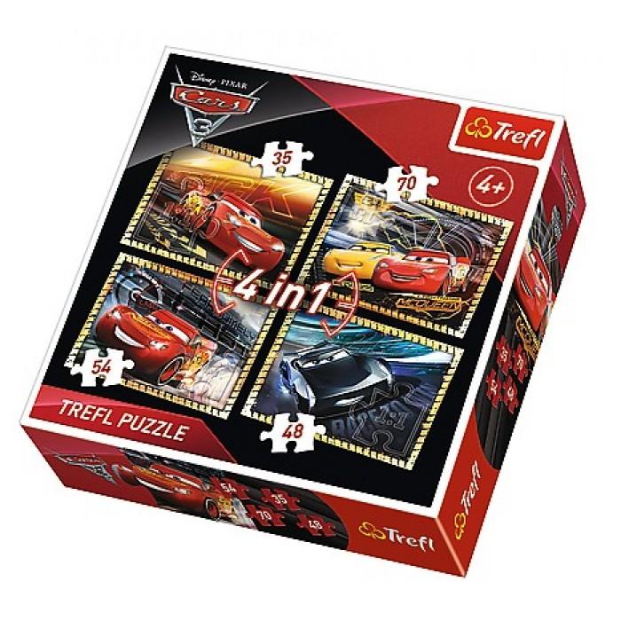 4 Jigsaw Puzzles - Cars 3