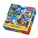 Trefl-34280 4 Puzzles - Super Wings