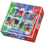 Trefl-34299 4 Puzzles - PJMasks