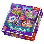 Trefl-34305 4 Puzzles - Enchantimals