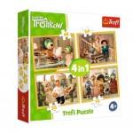 Trefl-34318 4 Puzzles - Treflikow