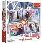 Trefl-34344 4 Jigsaw Puzzles - Frozen 2
