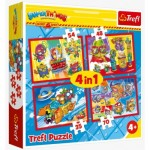 Trefl-34376 4 Jigsaw Puzzles - Super Things Secret Spies