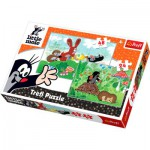 Trefl-34400 2 in 1 Puzzles: The Little Mole