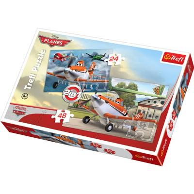 Trefl-34402 2 Puzzles en 1 : Planes