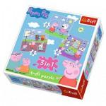 Trefl-34813 3 Jigsaw Puzzles - Peppa Pig