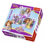 Trefl-34814 3 Jigsaw Puzzles - Sofia the First