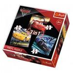 Trefl-34820 3 Jigsaw Puzzles - Cars 3
