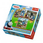 Trefl-34821 3 Jigsaw Puzzles - Thomas & Friends